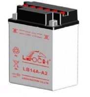 Leoch YB14A-A2 / CB14A-A2 - Dry Charged Motorcycle Battery + Acid Pack